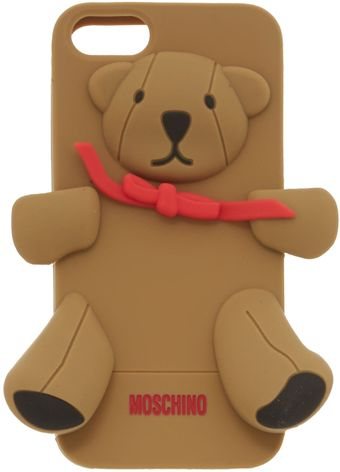 Moschino Teddy Brown Phone Case - Lyst