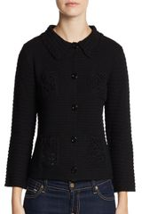 Moschino Cheap & Chic Crocheted Wool Jacket - Lyst