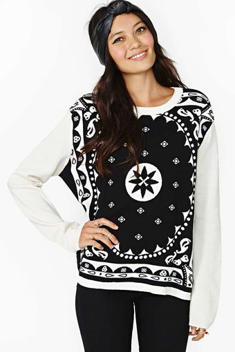 Nasty Gal Insight Mystic Bandana Sweater - Lyst