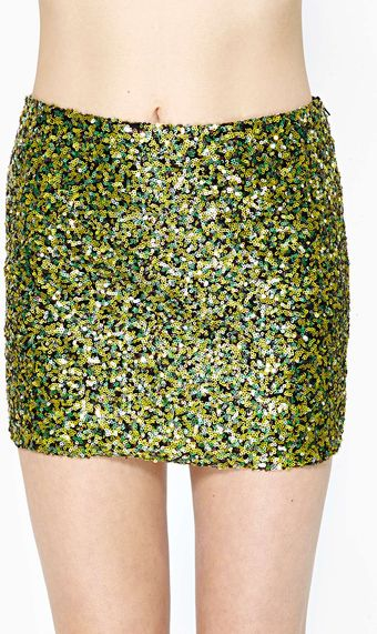 Nasty Gal Sun Spot Sequin Skirt - Lyst