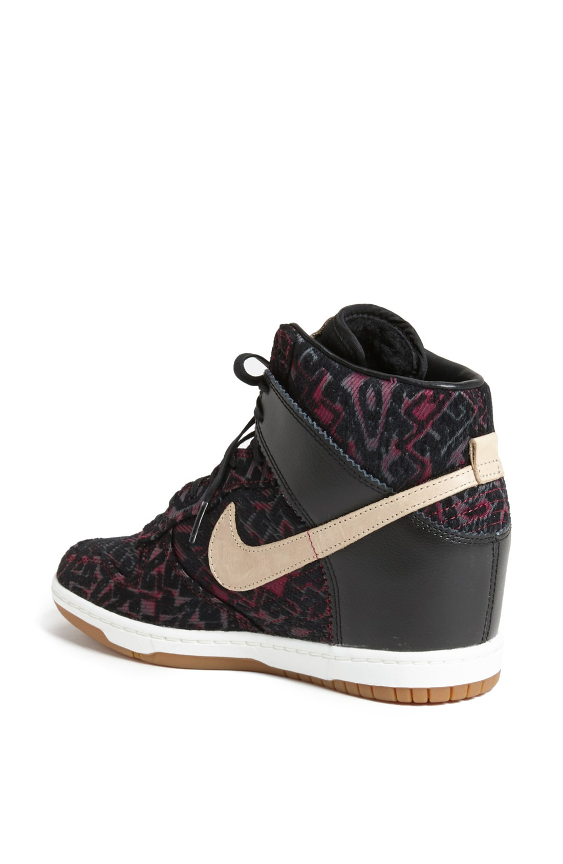 nike dunk sky hi sneaker in black lyst. Black Bedroom Furniture Sets. Home Design Ideas