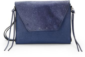 Olivia Harris Amanda Ostrich Embossed Ipad Shoulder Bag - Lyst