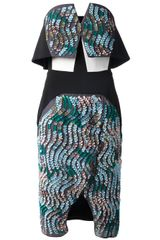Peter Pilotto Structured Sequined Dress - Lyst