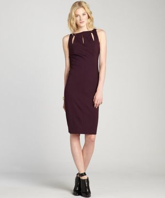 Rachel Roy Eggplant Stretch Knit Cutout Neck Dress - Lyst