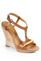 Rachel Roy Terese Leather Cork Wedge Sandals - Lyst