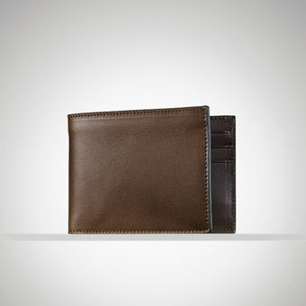 Ralph Lauren Leather Billfold Wallet - Lyst