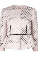 RED Valentino Polka Dot Cropped Jacket - Lyst