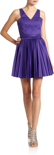 Robert Rodriguez Cutout Fitandflare Dress - Lyst