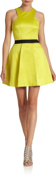 Robert Rodriguez Pleated Fit And Flare Dress - Lyst