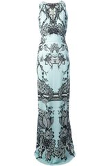Roberto Cavalli Printed Maxi Dress - Lyst