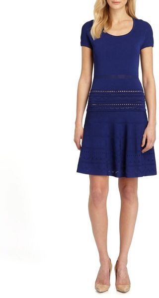 Roberto Cavalli Capsleeve Knit Dress - Lyst