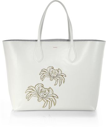Rochas Scalloped Embellished Tote - Lyst