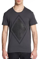 Rogue Textured Diamond Cotton Tee - Lyst