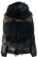 Sacai Racoon and Fox Fur Jacket - Lyst