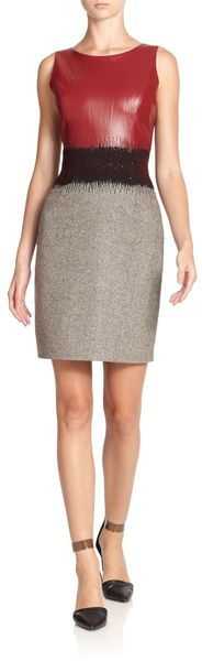 Sachin & Babi Nora Mixed Media Sheath Dress - Lyst