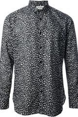 Saint Laurent Animal Print Shirt - Lyst