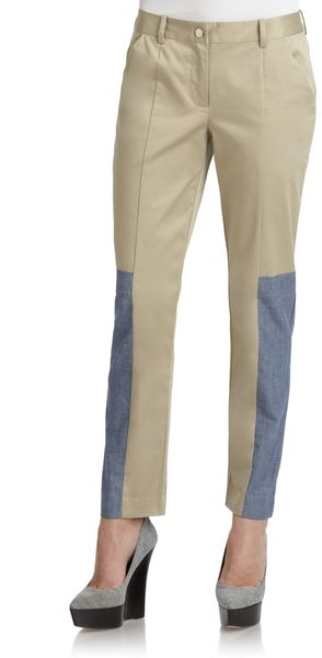 Thakoon Addition Poplin Denim Slim Pants - Lyst