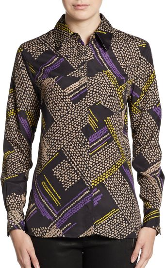 Thakoon Addition Printed Silk Shirt - Lyst