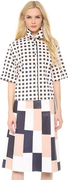 Thakoon 34 Sleeve Box Shirt - Lyst