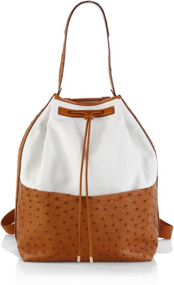 The Row Ostrich Linen Backpack - Lyst