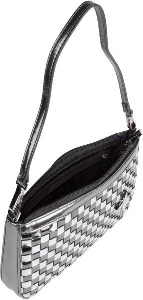 Thierry Mugler Shoulder Bag In Silver Lyst