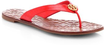 Tory Burch Thora 2 Patent Leather Thong Sandals - Lyst