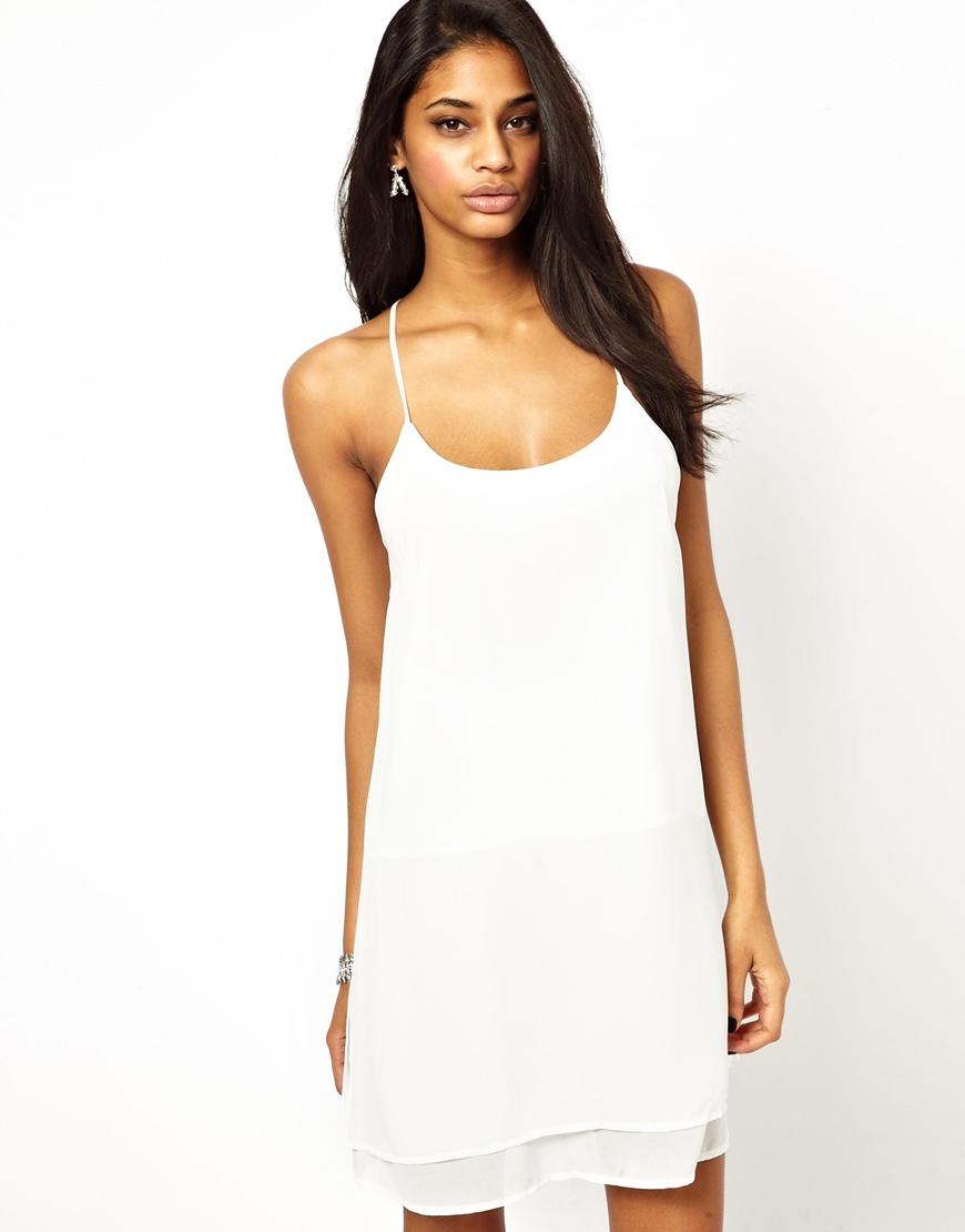 6a542317b20b True Decadence Strappy Cami Slip Dress in White - Lyst
