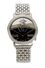 Versace Stainless Steel Link Bracelet Watch - Lyst