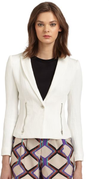 W118 By Walter Baker Cruz Textured Blazer in White