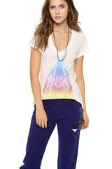 Wildfox Howl At The Rainbow Tee - Lyst