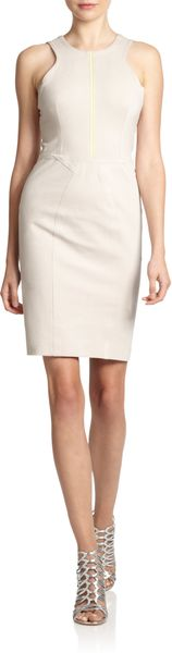 Yigal Azrouel Cutout Compact Jersey Sheath Dress - Lyst