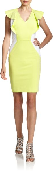 Yigal Azrouel Colorblock Compact Jersey Sheath Dress - Lyst
