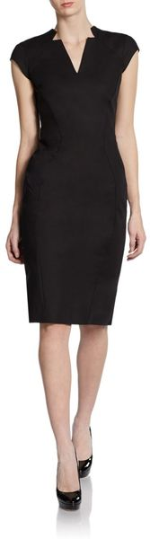 Zac Posen Cap Sleeve Sheath Dress - Lyst