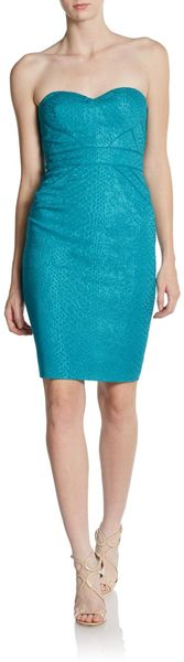 Zac Posen Printed Strapless Sweetheart Dress - Lyst