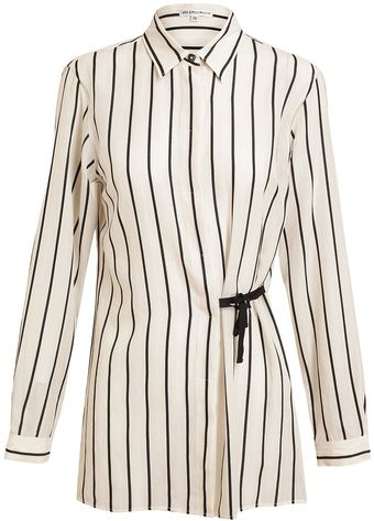 Ann Demeulemeester Striped Cotton Shirt - Lyst