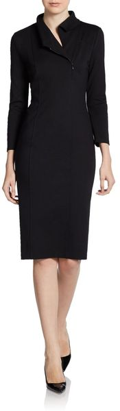 Armani Zip Front Knit Dress - Lyst