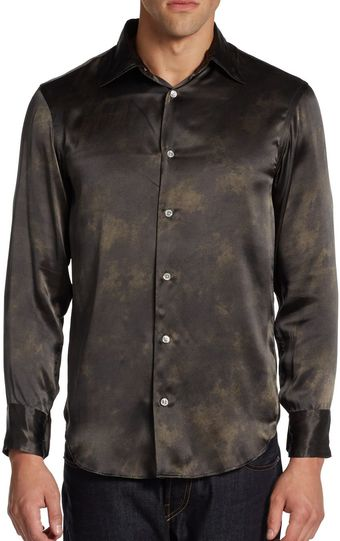 Armani Silk Classic-Fit Shirt - Lyst
