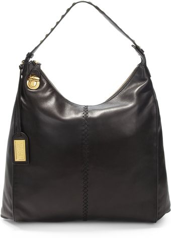 Badgley Mischka Tracy Studded Leather Hobo - Lyst