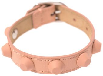 Balenciaga Rubber Studded Leather Bracelet - Lyst