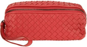 Bottega Veneta Woven Make Up Bag - Lyst
