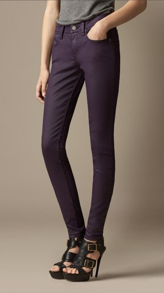 Burberry Westbourne Coated Skinny Fit Jeans - Lyst
