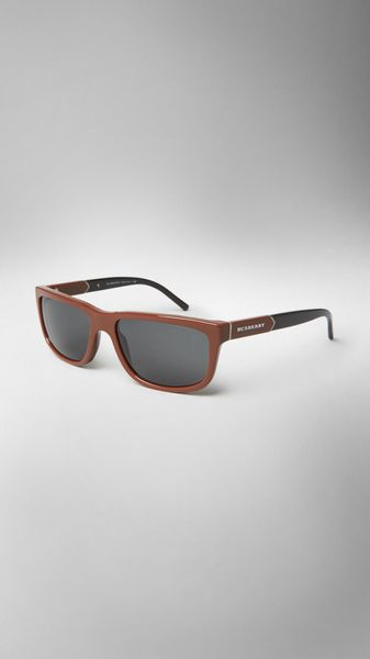 Burberry Epaulette Detail Square Sunglasses - Lyst