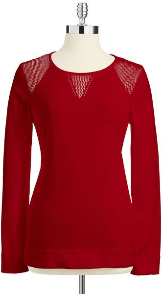 Calvin Klein Mock Mesh Detailed Sweater - Lyst