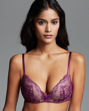 Calvin Klein Bra Serene Wireless Push Positive - Lyst