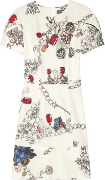 Camilla & Marc Jewelry Print Cotton and Silk Blend Dress - Lyst