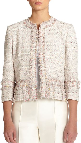 Carolina Herrera Boucle Jacket - Lyst