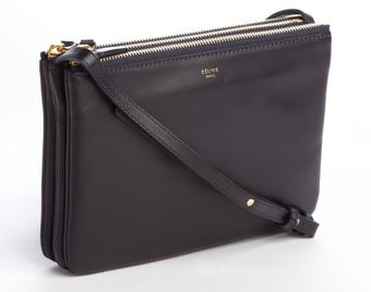 Celine Navy Trio Cabas Solo Convertible Shoulder Bag - Lyst