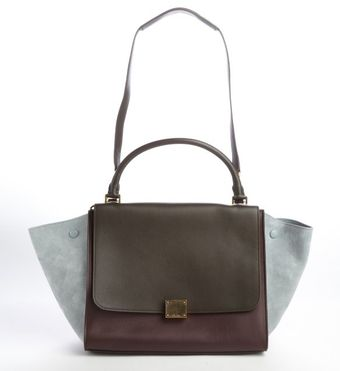 Celine Sky Colorblock Leather Trapeze Convertible Shoulder Bag - Lyst