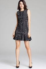 Diane Von Furstenberg Dress Carlie Stripe Grid - Lyst