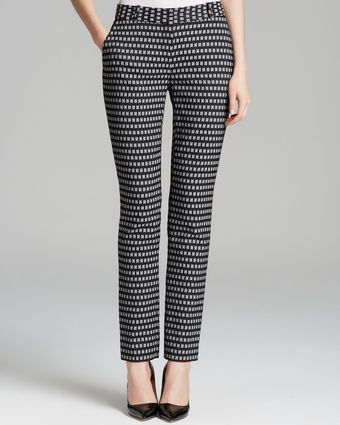 Diane Von Furstenberg Pants Mary Honeycomb Stretch - Lyst